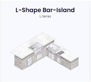 l shaped bar island rendering