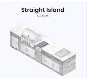 straight island rendering