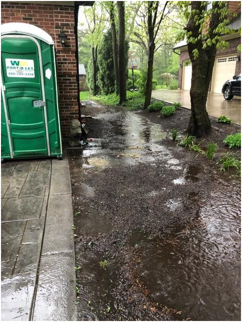 photo of standing water in yard