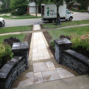 picture of paved front entrance